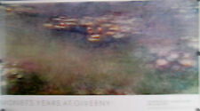 "MONET YEARS AT GIVERNY WATER LILIES 1978 POSTER 27 1/2"" X 49"" MINT ROLLED"