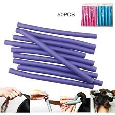 50PCS Curl DIY Hair Curlers Tool Styling Rollers Spiral Circle Magic Roller TS