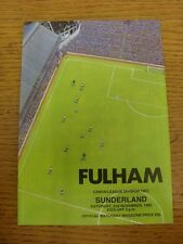 02/11/1985 Fulham v Sunderland  . Item appears to be in good condition unless pr