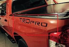 Piano Black TRD Pro Letters for Toyota Tundra 2014 2015 2016 Inserts 2 SETS!!