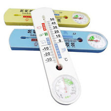 Indoor Outdoor Thermometer Hygrometer Temperature Temp Humidity Meter Tool