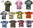 NEW MEN DIFFERENT COLORS OF ROTHCO CAMOUFLAGE CAMO ARMY MILITARY T-SHIRTS TEE