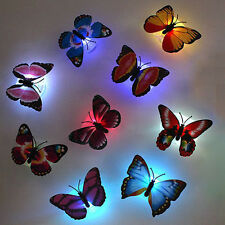 1pc 7 Colors Changing Lovely Beautiful Cute ABS Butterfly LED Night Light Lamp