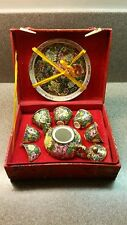 VINTAGE CHINESE PORCELAIN CHILDREN'S TEA SET IN ORIGINAL SILK PRESENTATION BOX
