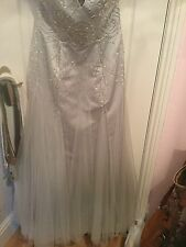 Ball Gown,wedding gown,silver 12/14
