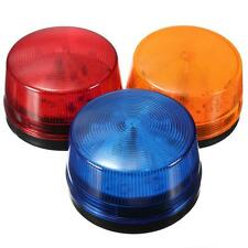 DC 12V Round Safety Alarm Security Post Caution Flash Warning LED Light Red