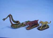 Clearance painted miniature  Boa snake, tiger, albino puma