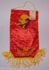 Soviet USSR Red Lenin Award Pennant Flag For Winner of Socialism Labor Race #24