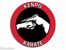 "KENPO KARATE 4""  HELMET CAR BUMPER DECAL STICKER MADE IN USA"