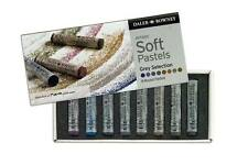 Daler Rowney Soft Chalk Pastel Set - 8 Grey Shades