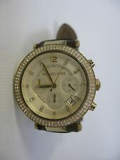 MICHAEL KORS Watch MK-2249 Chronograph Gold Dial (Brown Leather) Woman