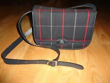 Burberry~Burberrys Blue Plaid Vintage Cross Body Bag/Swing Pack~100% Authentic