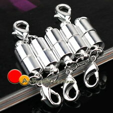 5 Sets Silver Plated Metal Strong Magnetic Necklace Clasps Jewellery New Fashion