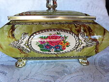 VINTAGE QUEENS COOKIE TIN CHEST CONFECTIONARY ROYALTY CHEST CROWN SEW CHEST
