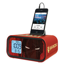 MARVEL- Iron Man Dual Alarm Clock Speaker System USB for Charging