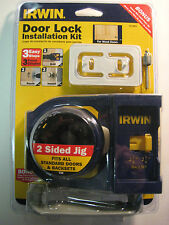 IRWIN DOOR LOCK INSTALLATION KIT- FOR WOOD DOORS