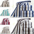 Egyptian Cotton Towels Set Bale Bath Sheet Hand Large Luxury Stripe 600 GSM New