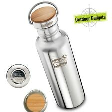 Klean Kanteen Stainless Classic Water Bottle Reflect Mirrored Bamboo Cap 27oz