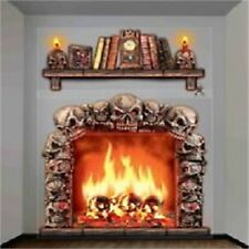 Halloween Haunted Wall Decoration - Skull Fireplace Skeleton House Party Giant