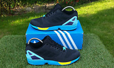 BNWB & Genuine Adidas Originals ZX Flux Weave BLACK AQUA Trainers UK Size 6