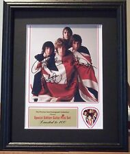 The Who Preprinted Autograph & Guitar Pick Display Mounted & Framed