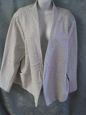Ava & Viv Blazer Plus Size 4X 28  30 NWT Strechy Ribbed Knit B&W Striped NEW