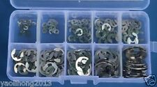 120 Pcs Stainless Steel E-Clip Assortment Kit 1.5 2 3 4 5 6 7 8 9 10 mm Circlip
