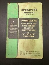 John Deere A200, B200, And G200 Series Tractor Cultivators Operator's Manual