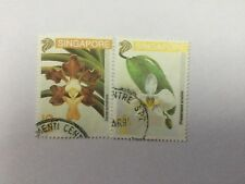 1993 Malaya Singapore 2 Orchids Series stamps