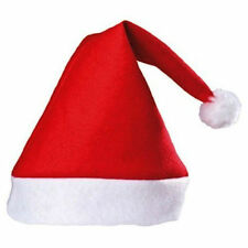 FATHER CHRISTMAS RED SANTA HATS XMAS OFFICE PARTY ACCESSORY HAT