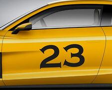 Numeri Corsa font 07. Personalizzata Auto Vinile Porta Adesivo. TRACK tracce di trasferimento.