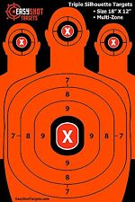 "100 PACK 12"" X 18"" Reactive EasyShot Gun Rifle Pistol Shooting Targets Glow Shot"