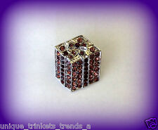 PURPLE PRESENT GIFT BOX PIN BROOCH~BIRTHDAY GIFT FOR HER WOMEN FRIEND MOM MOTHER