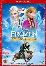 Disney's Frozen (DVD, 2014, Sing-Along Edition, PG, Region 1)