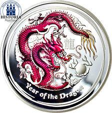 Australien 50 Cents Silber 2012 PP Lunar II Serie Jahr des Drachen Silbermünze