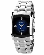 Armitron Mens Swarovski Crystal Blue Dial Stainless Steel Watch 20/4507DBSV