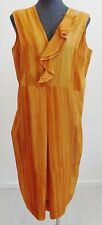 New $811 Marni orange women's dye sleeveless empire waist Dress Size 46