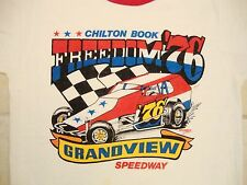 Vintage Chilton Book Freedom '76 70' Funny Cars Racing Races Ringer T Shirt S