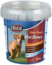 Dog Treats Snack Food Mini Bones with Beef Lamb & Poultry for Training 500 g