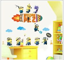 Minions family Despicable Me 2 Wall sticker Wall Decals Home Kids Boy Decor DIY