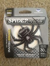 Spiderwire Invisi-Braid 30 Lb 300 Yd Spool Translucent Fishing Line
