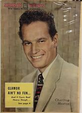 Charlton Heston Insert Cover from New York's Picture Newspaper - Oct. 18, 1953
