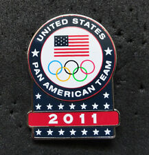 2011Guadalajara Pan Am Olympic Games Limited USA NOC delegation team pin