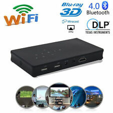 Mini Portable 1080P HD Pico Projector LED DLP Wifi Pocket Home Theater USB HDMI