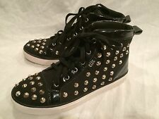 Cute to the Core Black Hightop Spiked Womens size 9 shoes Gothic Punk