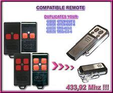 GIBIDI OPEN OUT 2 / 4, TMB 433-2, TMQ 433-4 Compatibile Telecomando, Clone