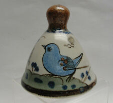 EL PALOMAR MEXICAN ART POTTERY - TONALA / BLUE Pattern - BELL ORNAMENT