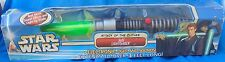 Hasbro Star Wars Attack Of The Clones Jedi Electronic Lightsaber Green MIP MIB