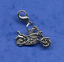 "GREAT ""MOTORBIKE"" CLIP ON DANGLE CHARM, TIBETAN SILVER CLIP ON CHARM MOTOR BIKE"