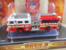 CODE 3 PIERCE CITY OF NEW YORK NO# 60  FIRE ENGINE - 1/64 SCALE DIE-CAST